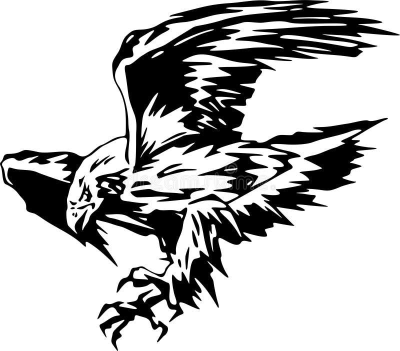 Attacking Eagle 5 royalty free illustration