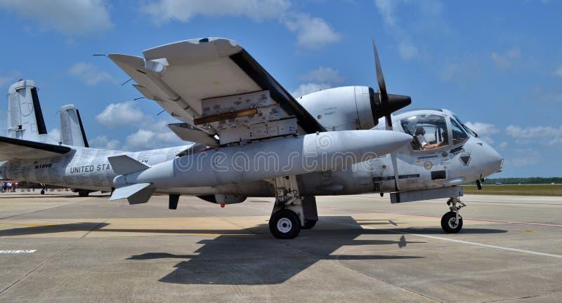 Attacknivå för Mohawk OV-1 royaltyfri bild