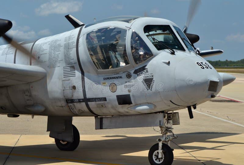 Attacknivå för Mohawk OV-1 royaltyfria bilder