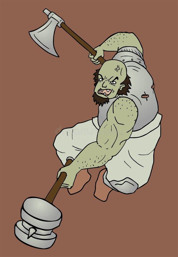 Attaque d'ogre illustration libre de droits