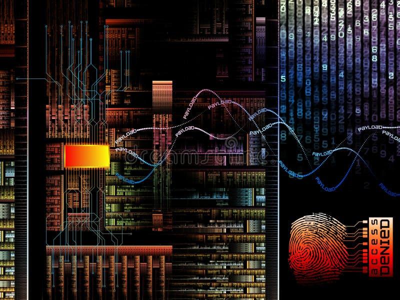 Attaque de Cyber illustration libre de droits