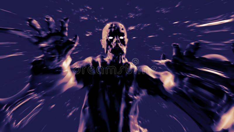 Attaque de démon avec les bras ouverts illustration 3D illustration de vecteur