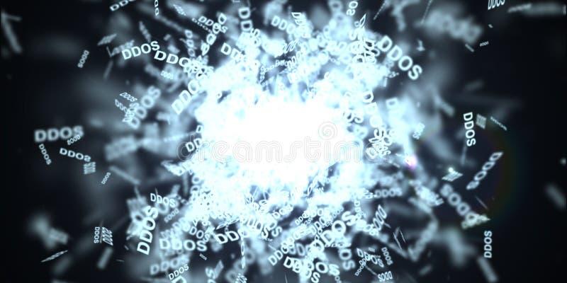 Attaque de DDOS, Trojan d'infection, attaques de virus illustration de vecteur