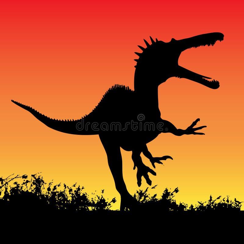 Attaque de dinosaur illustration libre de droits