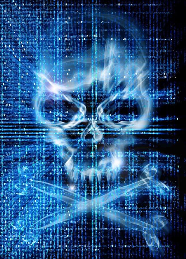 Attaque de pirate informatique avec le fond de crâne photo libre de droits