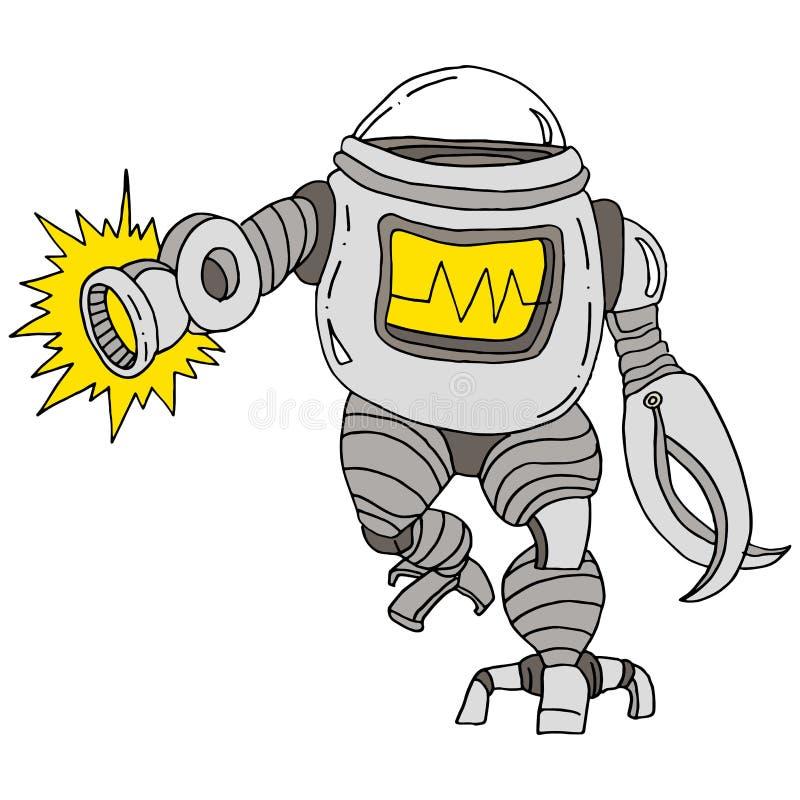 Attaque de robot illustration libre de droits