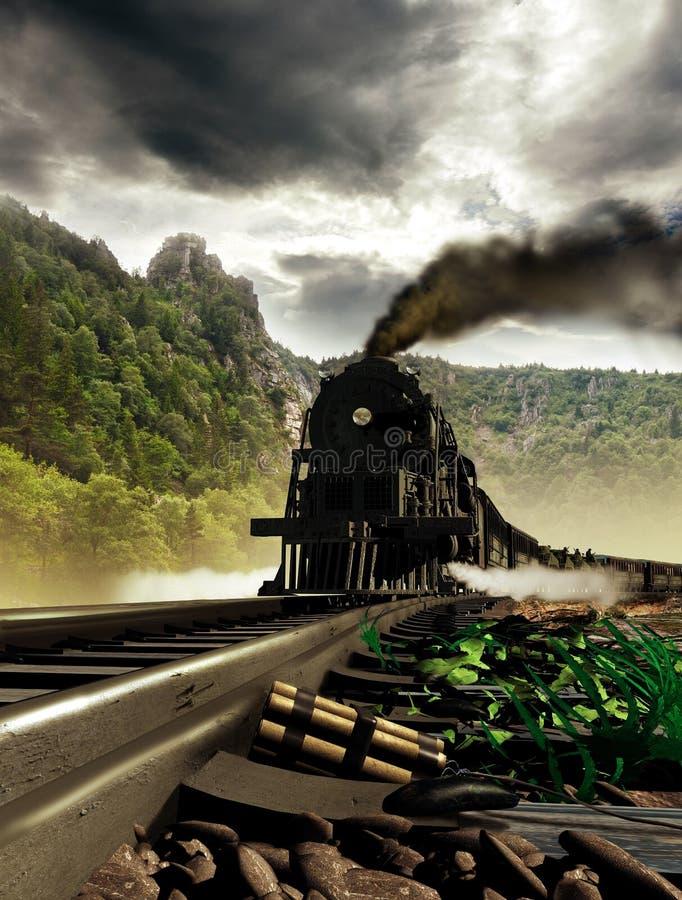 Attaque de train illustration stock