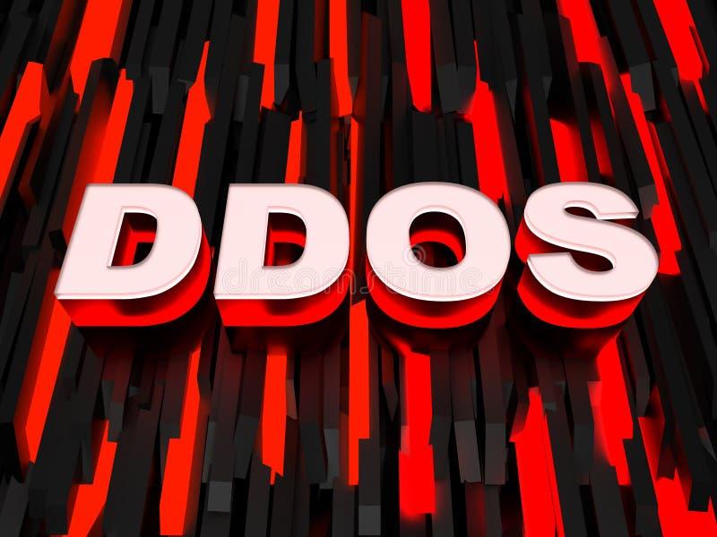 Attaque distribuée de démenti-de-service (DDoS) illustration libre de droits