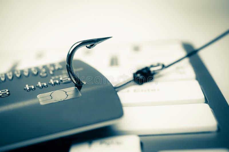 Attaque phishing de carte de crédit photos libres de droits