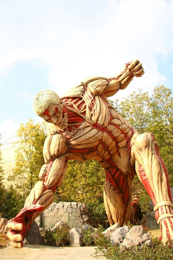 Attaque sur le titan photo stock