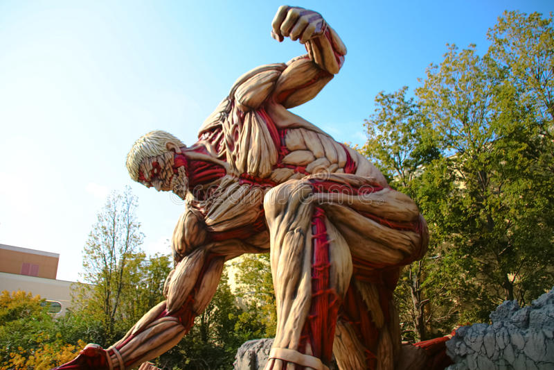 Attaque sur le titan images libres de droits