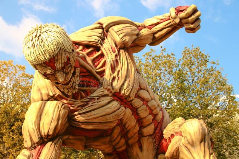 Attaque sur le titan image libre de droits