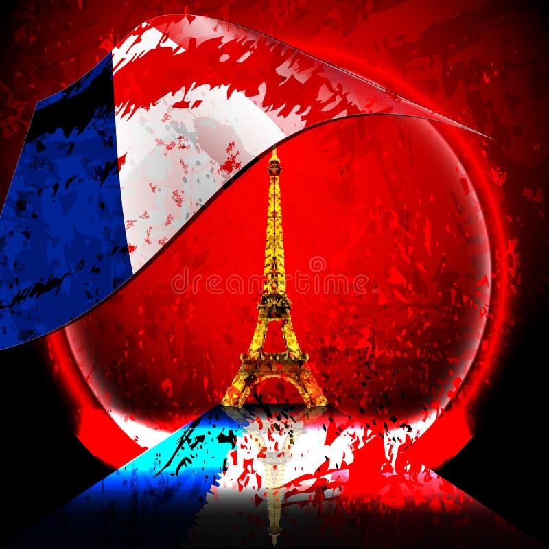 Attaque terroriste de Frances photographie stock libre de droits