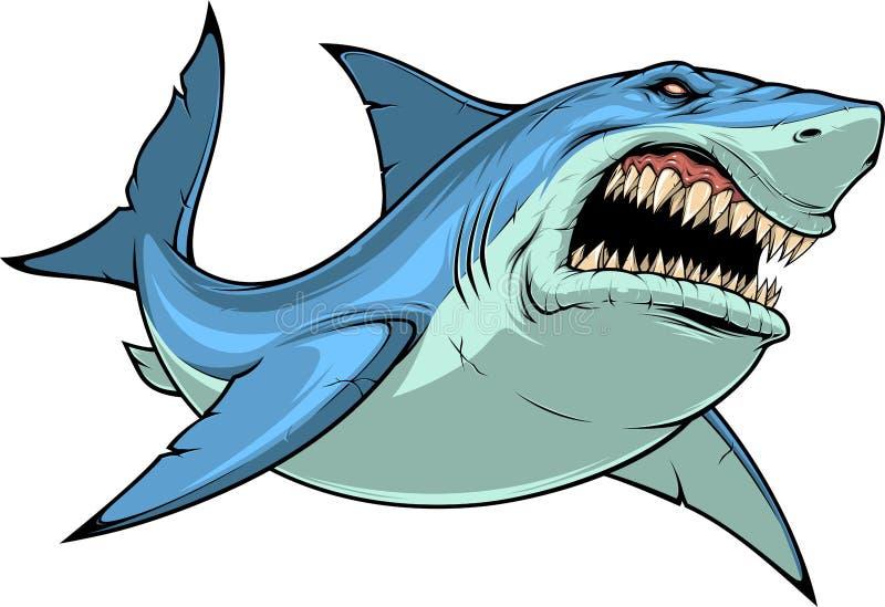 Attaques féroces de requin photo stock