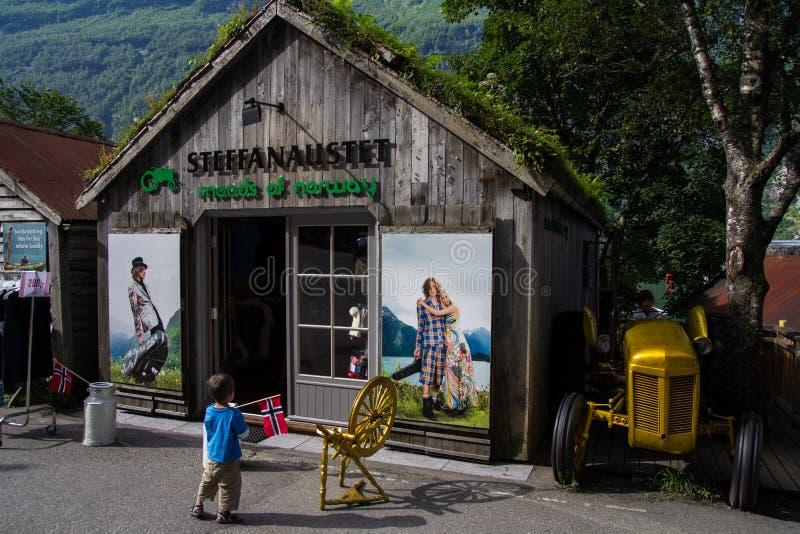 Atteggiamenti della Norvegia in Geiranger fotografia stock