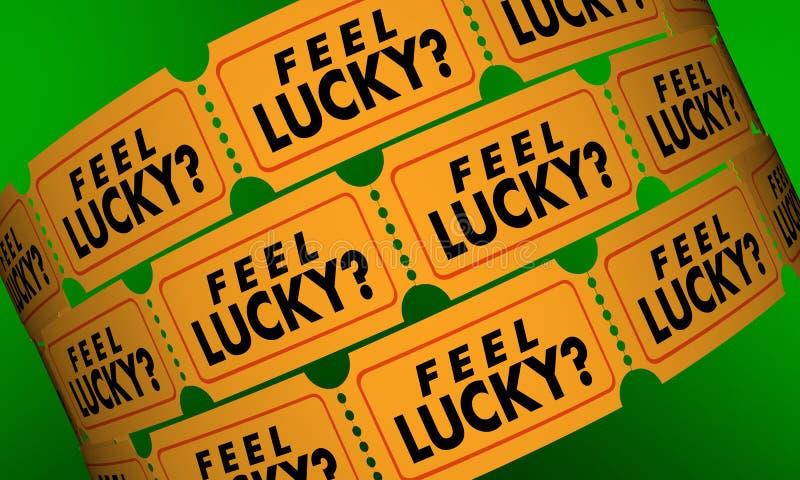 Atteggiamento positivo di Lucky Tickets Contest Raffle Optimism di tatto illustrazione vettoriale