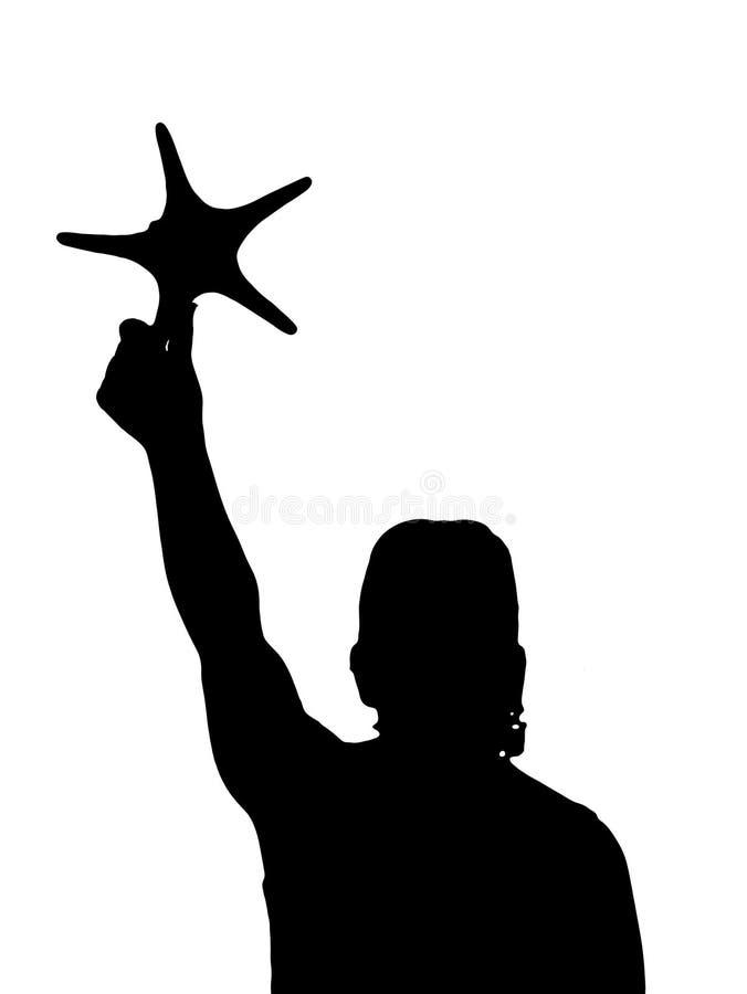 Atteignez les étoiles illustration stock