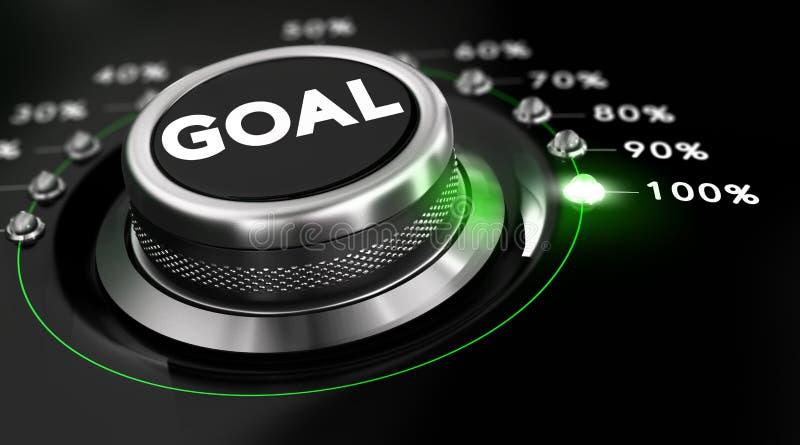 Atteignez les buts illustration de vecteur