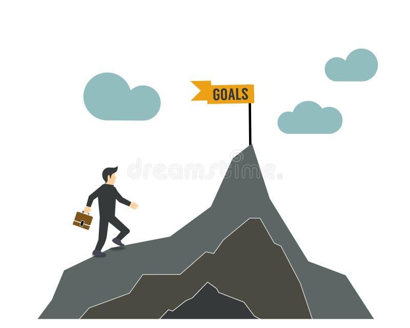 Atteignez vos buts dans la direction illustration de vecteur