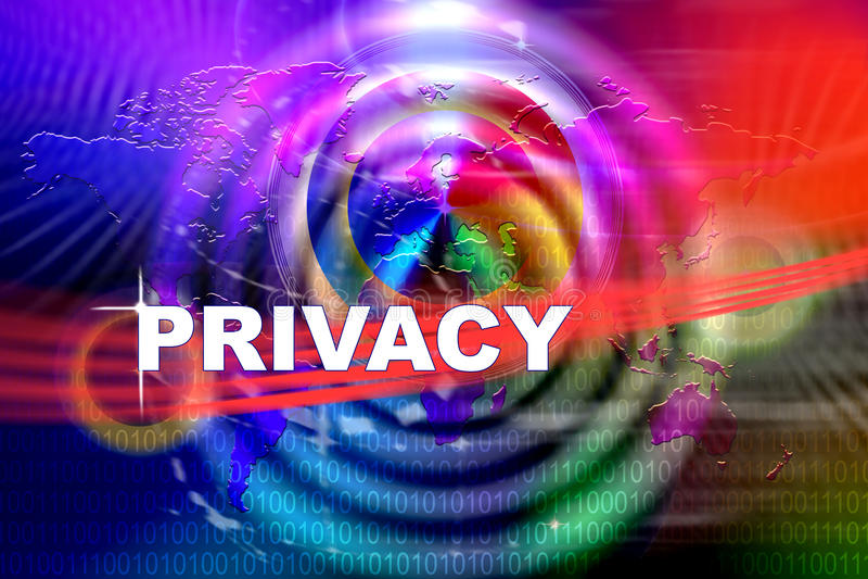 Atteinte à la vie privée illustration libre de droits