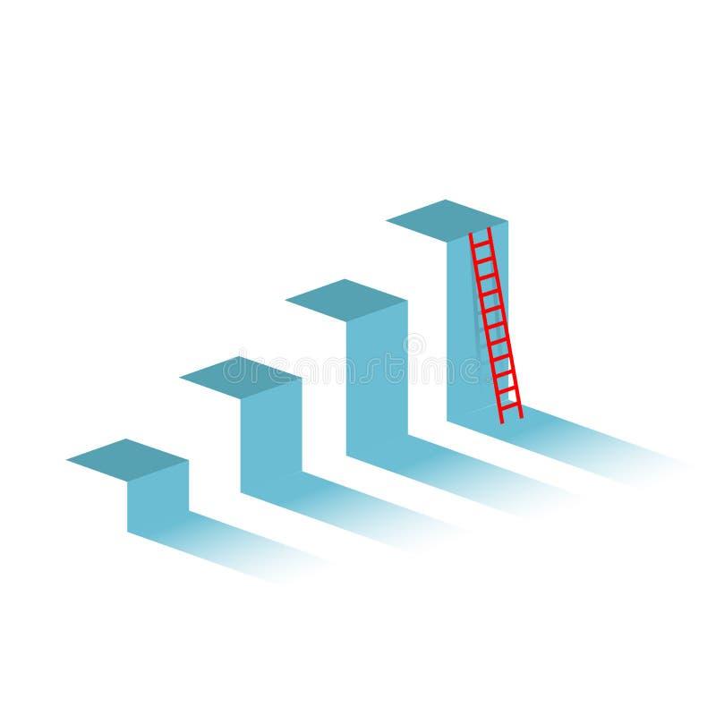 Atteinte de la cible Concept de graphique de gestion illustration stock