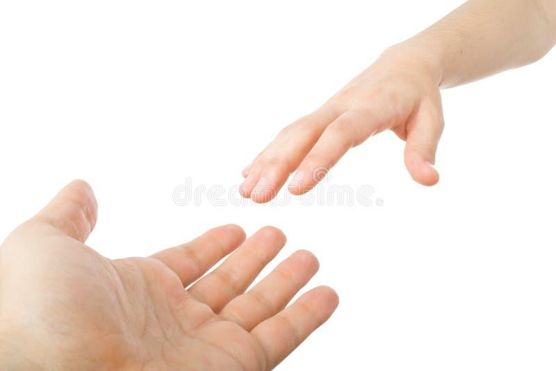 Atteinte des mains photo libre de droits