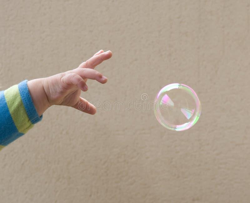 Atteinte pour la bulle photos stock