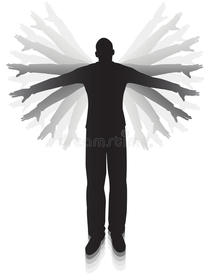 Download Attempted flight stock vector. Image of flight, person - 19329128