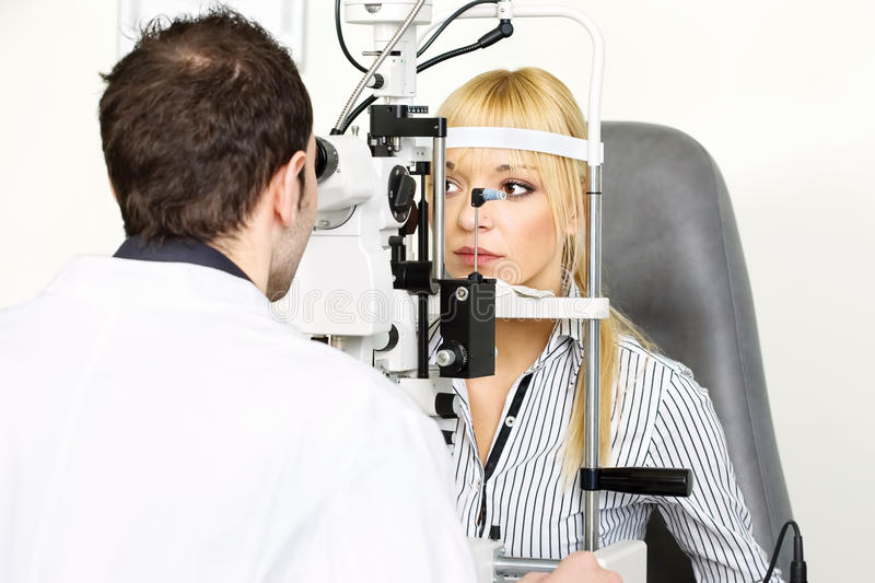 Attendance At The Optometrist Stock Images