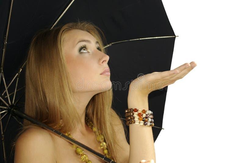 Attendere pioggia fotografia stock libera da diritti
