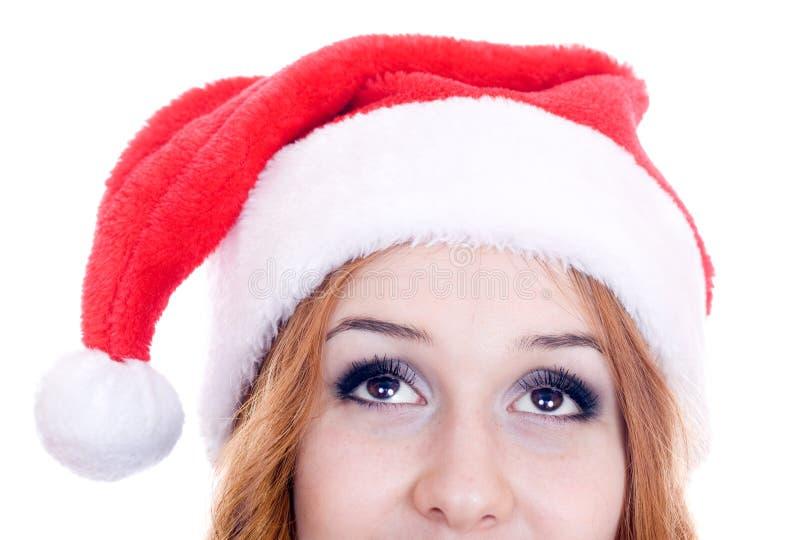 Attendre avec intérêt Noël images libres de droits
