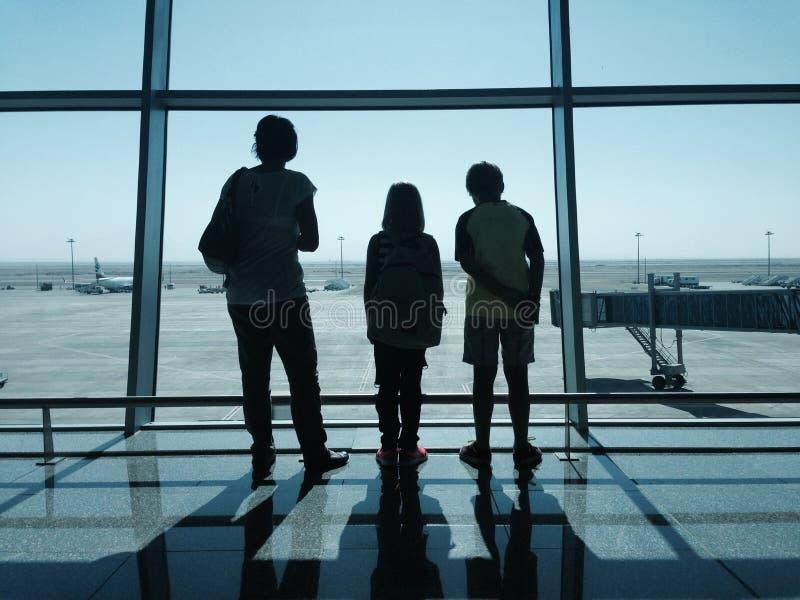 Attente d'aéroport images stock