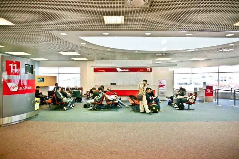 Attente dans l'aéroport photo libre de droits