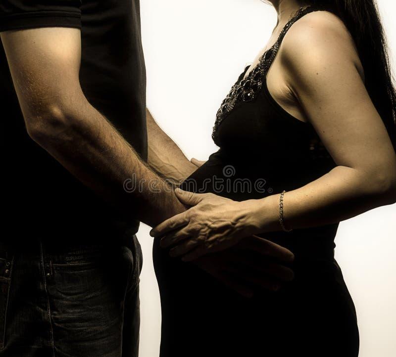 Attente de couples photo stock
