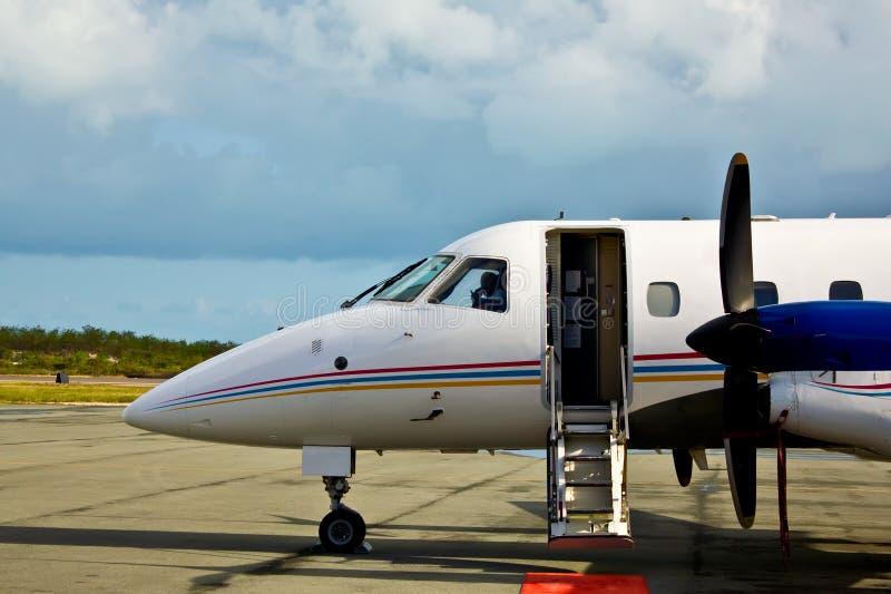 Attente privée d'avion de propulseur photo libre de droits