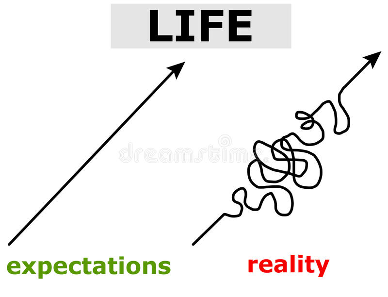 Attentes de vie illustration de vecteur