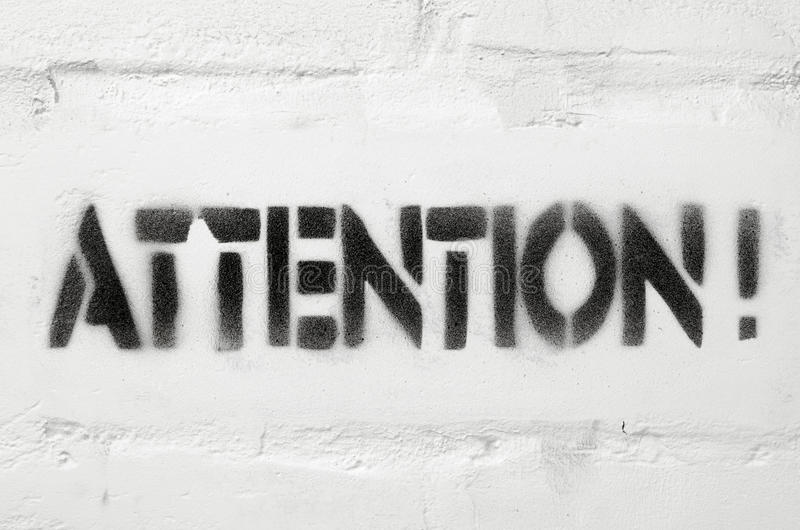 Attention image stock