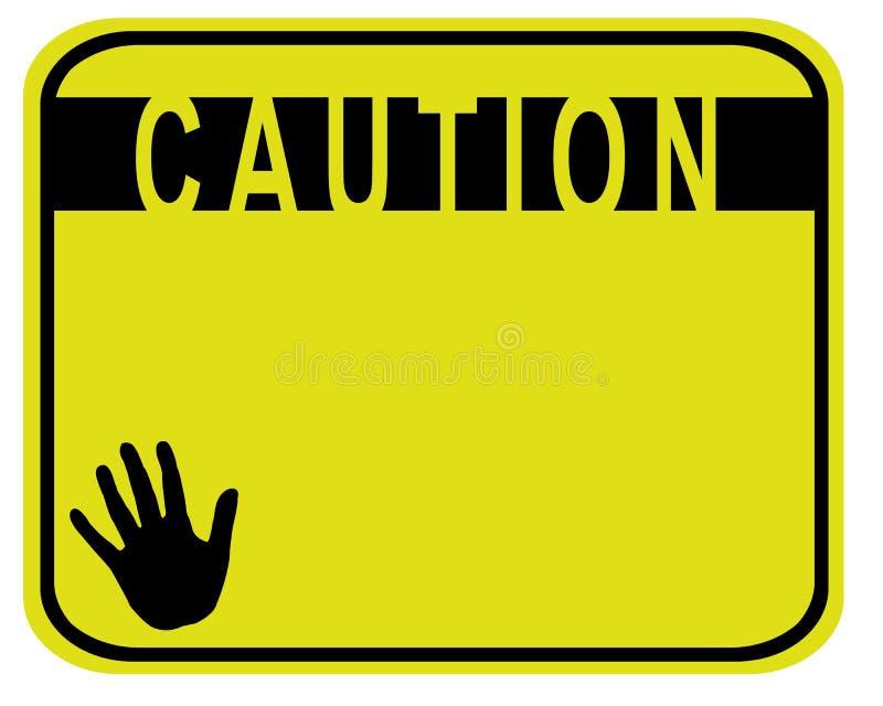 Attention illustration libre de droits