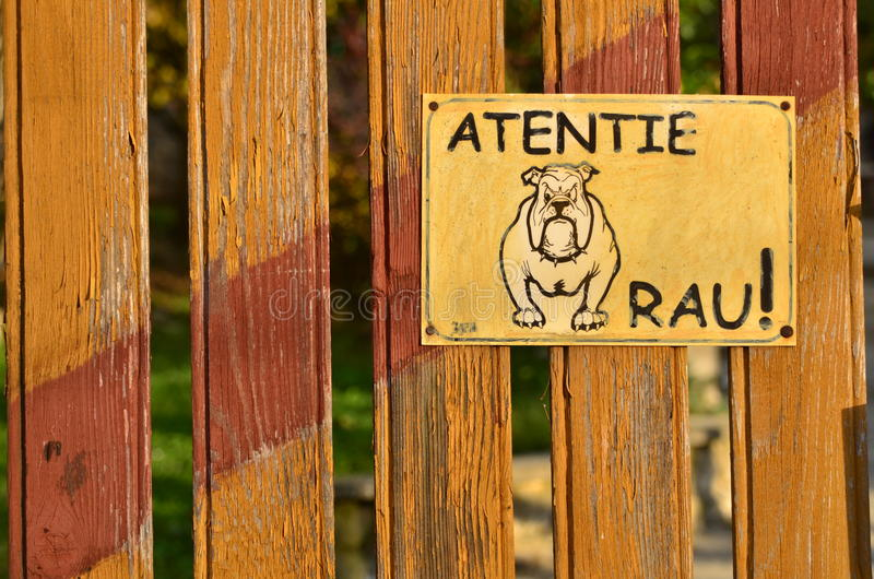 Beware of the dog! royalty free stock image