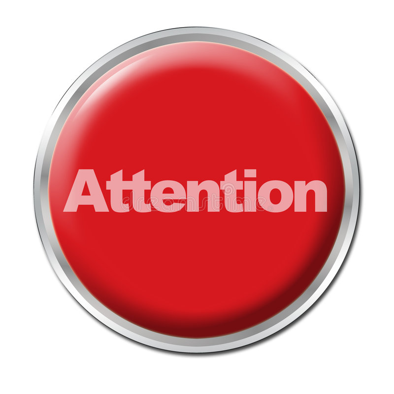 Download Attention Button stock illustration. Image of round, push - 5182300