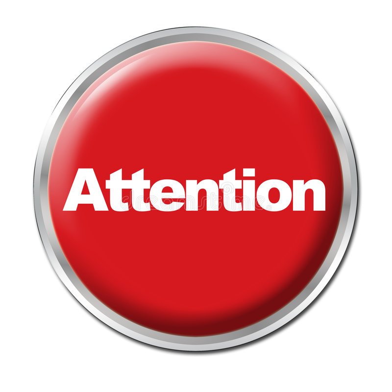 Attention Button royalty free stock image