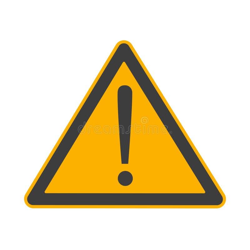 Attention danger sign symbol or sticker isolated on white background vector illustration stock illustration