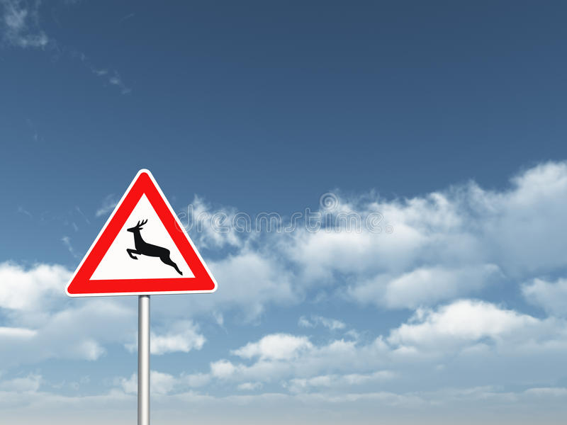 Download Attention Deer Crossing Royalty Free Stock Image - Image: 17038346