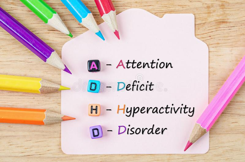 Attention Deficit Hyperactivity Disorder or ADHD concept royalty free stock images