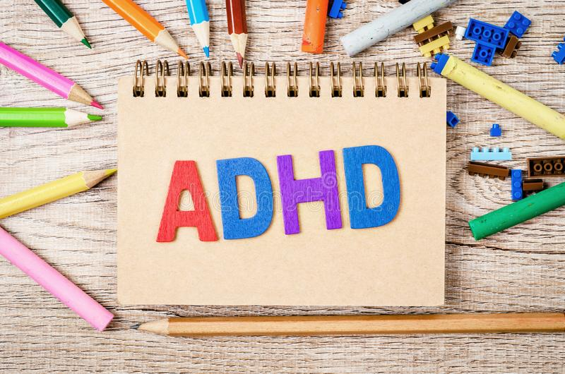 Attention Deficit Hyperactivity Disorder or ADHD concept royalty free stock photos