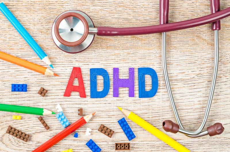 Attention Deficit Hyperactivity Disorder or ADHD concept royalty free stock photography
