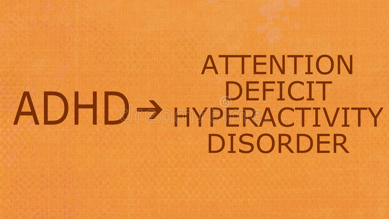 Attention Deficit Hyperactivity Disorder-ADHD stock illustration