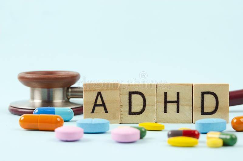 Attention deficit hyperactivity disorder or ADHD concept stock image