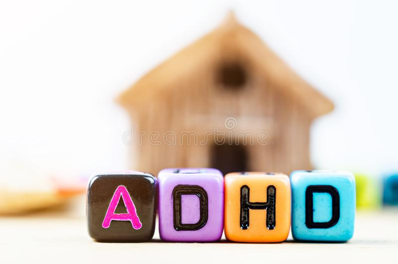Attention Deficit Hyperactivity Disorder stock image