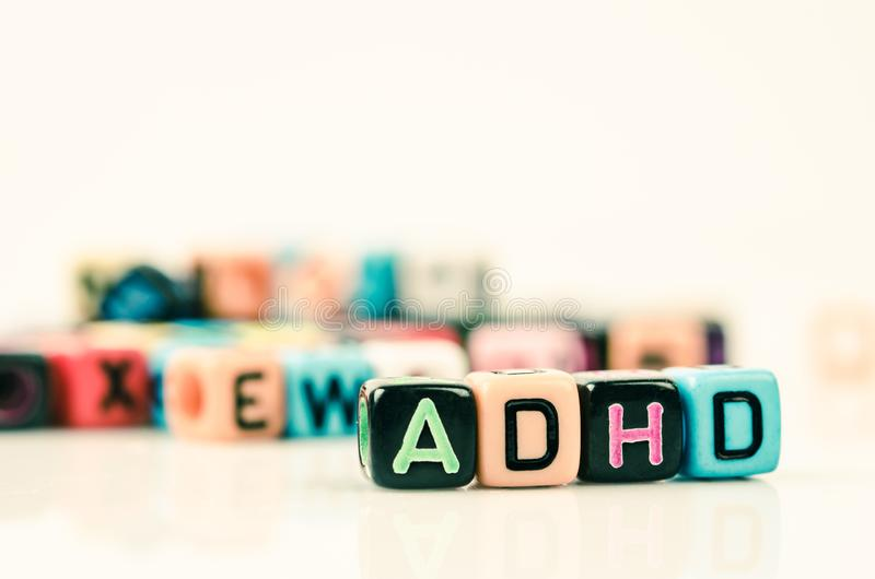Attention Deficit Hyperactivity Disorder concept royalty free stock photography